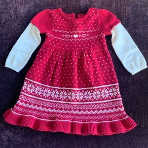 Baby girls knit dress 18-24 mo